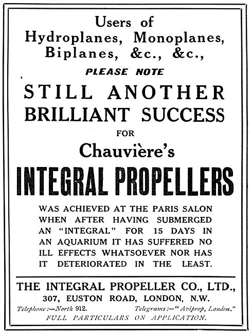 Integral Propellers - Chauviere
