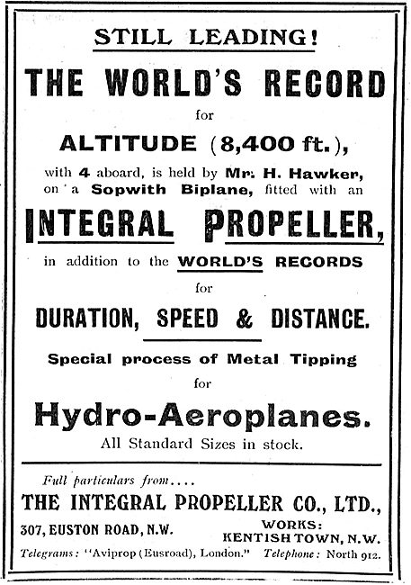 Integral Propellers Hold World & Altitude Records