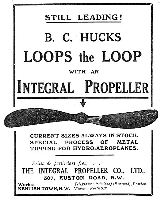 B.C.Hucks Loops The Loop With An Integral Propeller