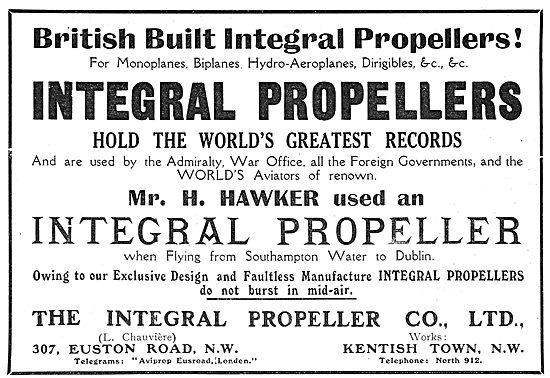 British Built Integral Aero Engine Propellers