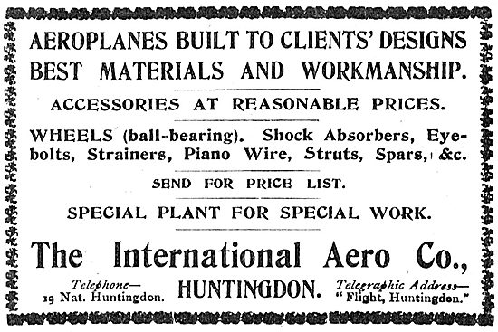 International Aero Co Huntingdon: Aeroplanes Built To Client Spec