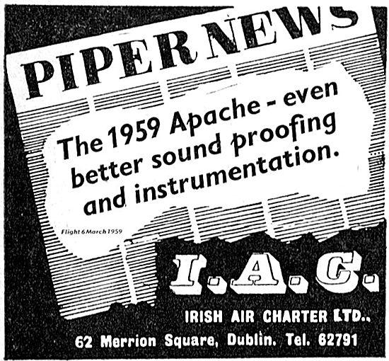 Irish Air Charter. Piper News 1959 Apache.