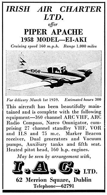 Irish Air Charter - Piper Apache