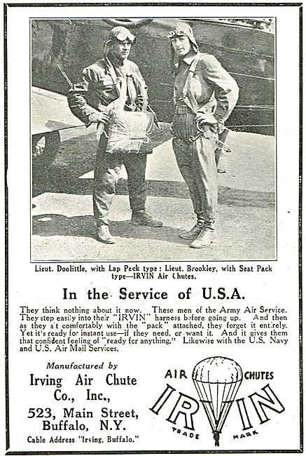 Irvin: In The Service Of The USA. Lieut Dolittle Uses Lee Pack...