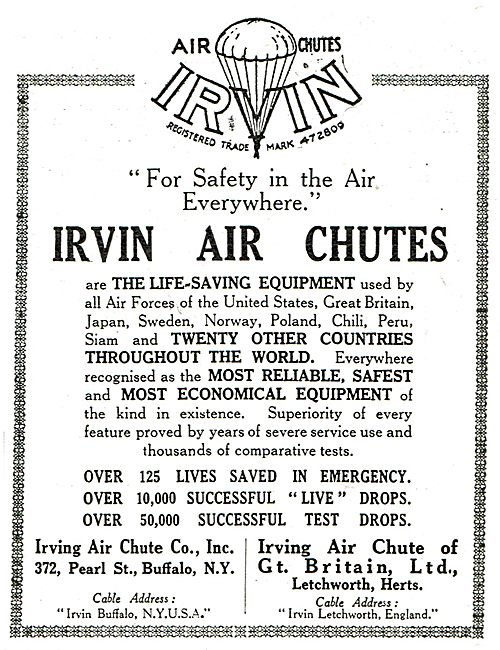 Irvin Air Chutes Have Saved Over 125 Lives