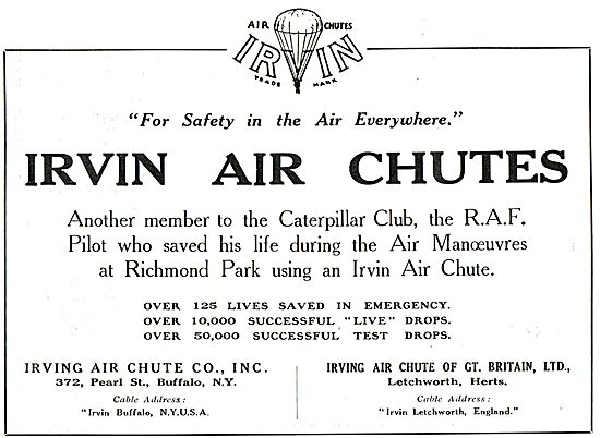 Irvin Air Chutes For Safety In The Air Everywhere.