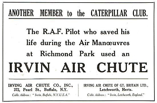 Another Member Of The Caterpillar Club - Irvin Air Chutes