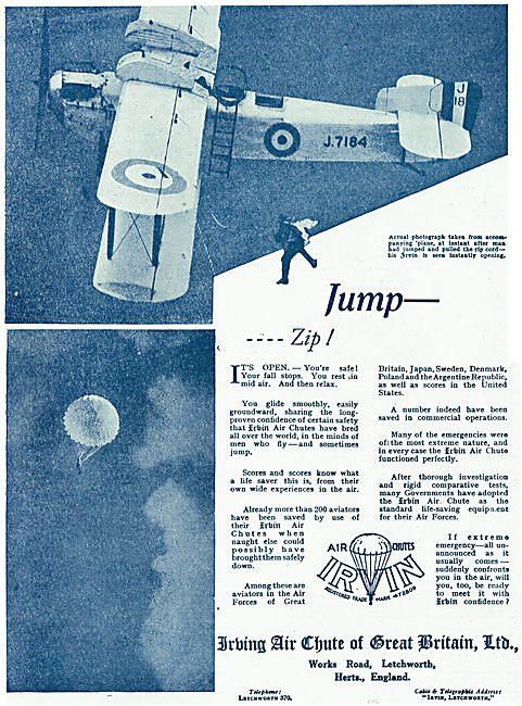 Jump - Zip!  Irvin Air Chutes