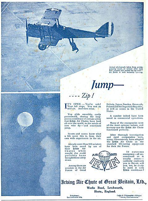 Irvin Parachutes - Jump - - Zip!