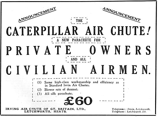 Irvin Air Chutes For Civilian Airmen
