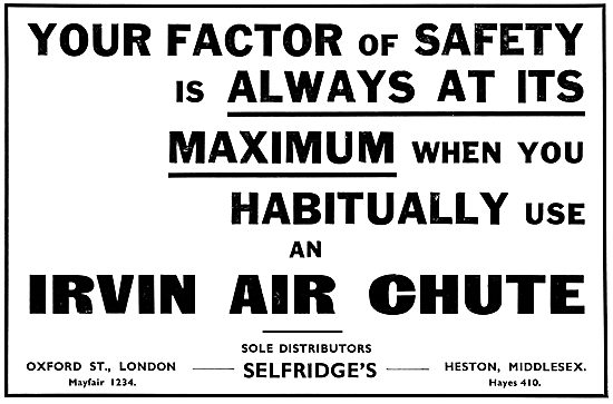 Irvin Parachutes Irvin Air Chutes. Selfridges