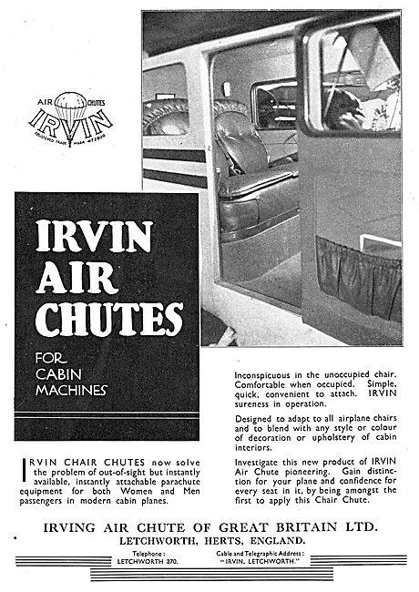 Irvin Air Chute Parachutes For Cabin Machines
