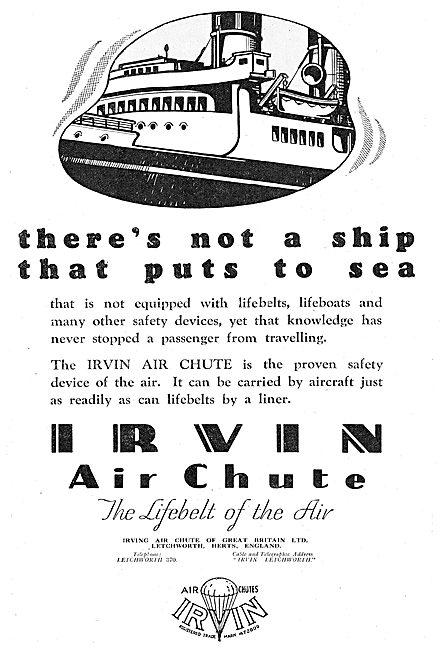 Irvin Air Chute Parachutes