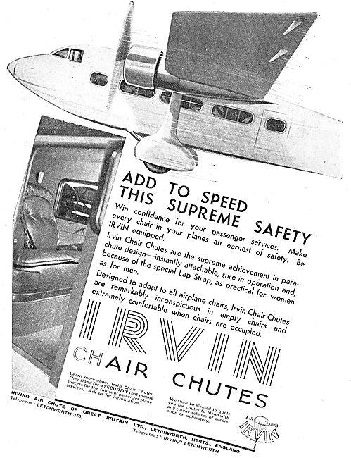 Irvin Chair Chute Parachutes