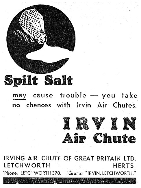 Irvin Air Chute: Superstitions Series: Spilt Salt