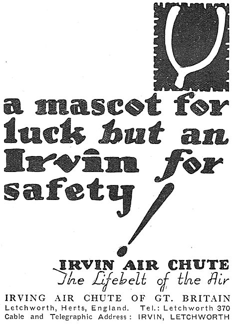 Irvin Air Chute: Superstitions Series: Lucky Mascot