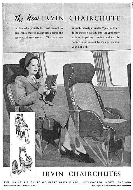Irvin Parachutes - Irvin Chairchutes  1947
