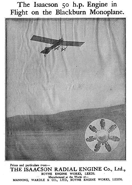 The Isaacson 50 HP Radial On A Blackburn Monoplane