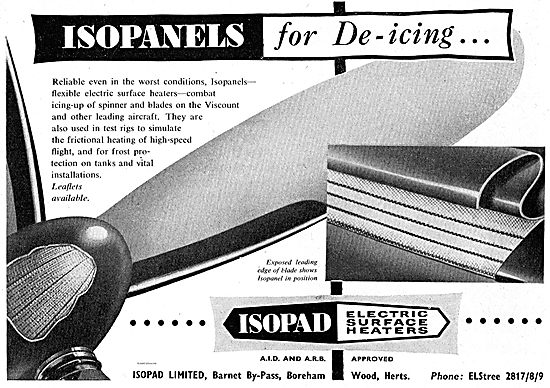 Isopad Isopanels. Electric Surface Heaters For Propeller De-Icing