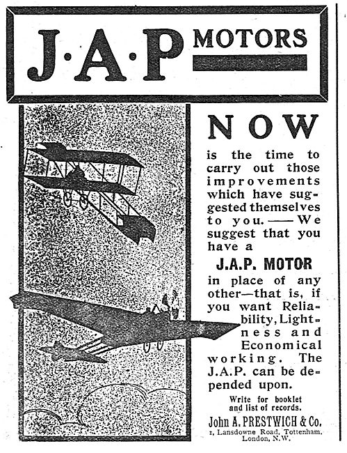 JAP Aircraft Engines