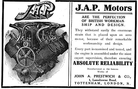 JAP Engines Are Thoroughly Examined & Tested Before Despatch