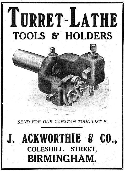 J.Ackworthie & Co. Coleshill St. - Turret-Lathe Tools & Holders