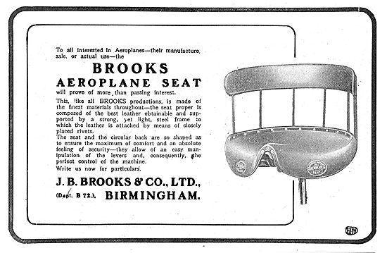 Brooks Aeroplane Seats