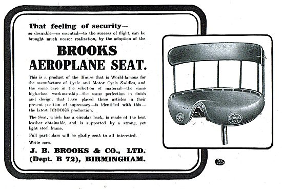 Brooks Aeroplane Seats For That Feeling Of Secuirty