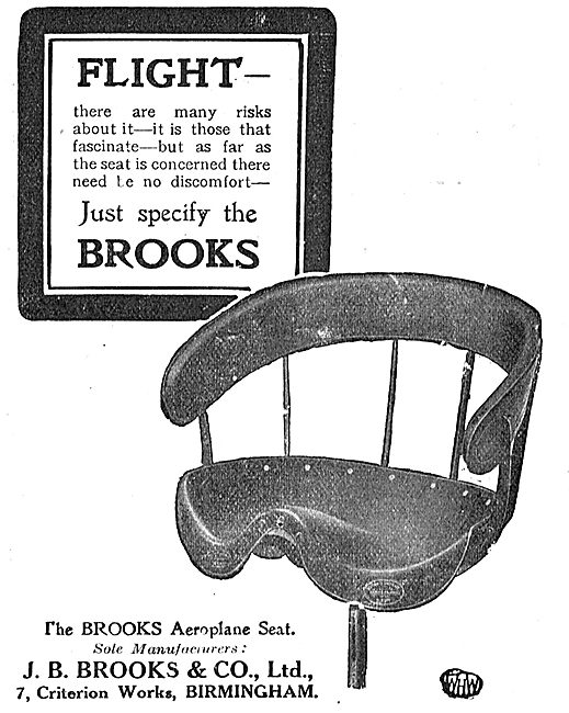 There's No Discomfort In Flight With Brooks Aeroplane Seats