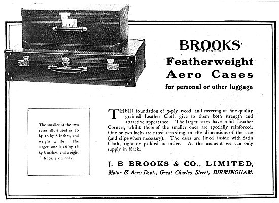 J.B.Brooks Leather Aero Suitcases