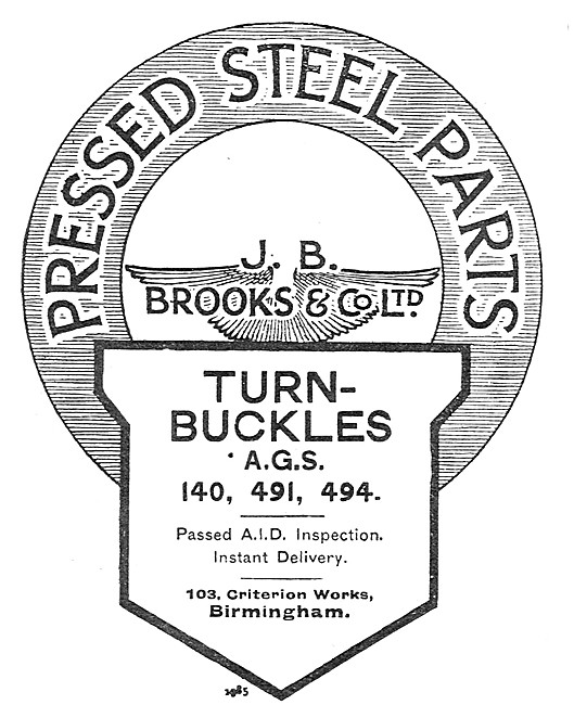 J.B.Brooks. Pressed Steel Parts.