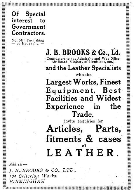 Brooks Aeroplane Seats & Leather Work