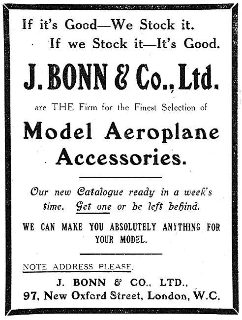 J.Bonn & Co. Prototypers, Model Makers & Aeroplane Accessories