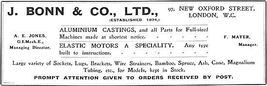 J.Bonn (A.E.Jones G.I. Mech E) Aluminium Castings For Aeroplanes