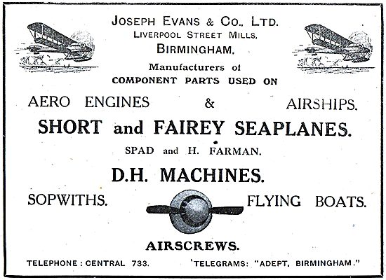 Joseph Evans & Co. Liverpool Street Mills. Birmingham
