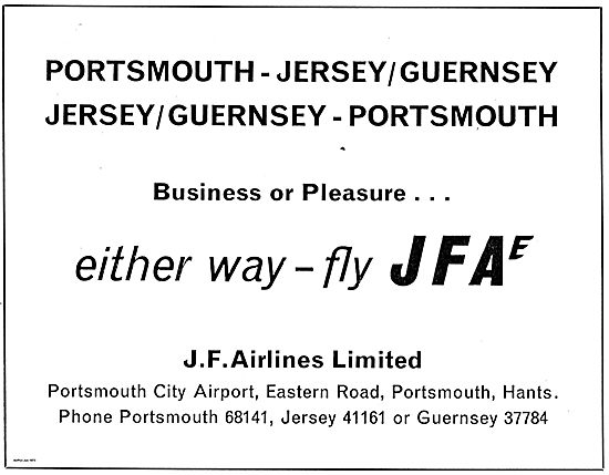 Business Or Pleasure - Either Way Fly JFA Portsmoith To Jersey.