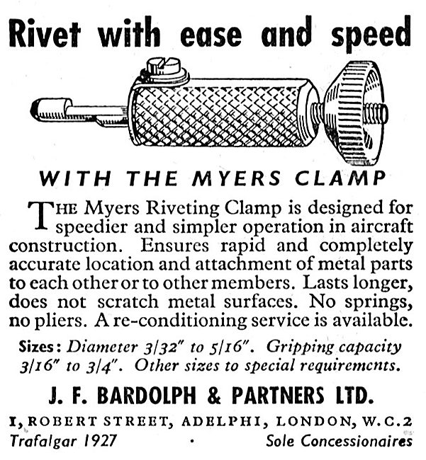 J.F.Bardolph - Myers Riveting Clamp