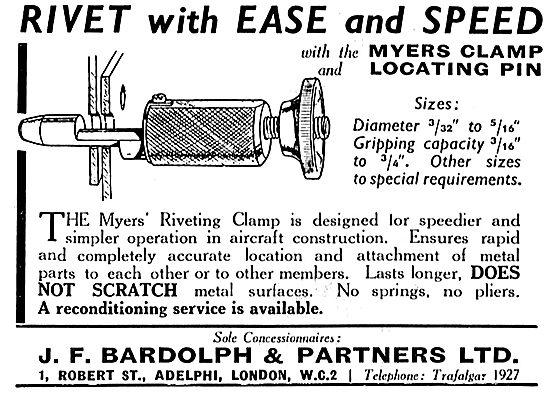 J.F. Bardolph - Myers Riveting Locating Pin Clamp