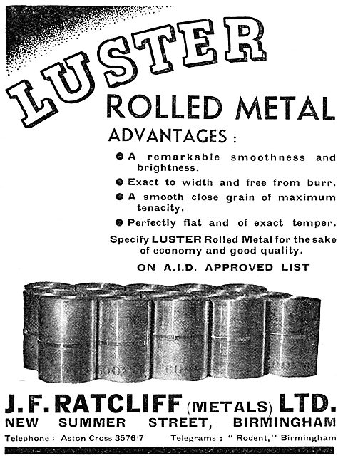 J.F.Ratcliff LUSTER Rolled Metal