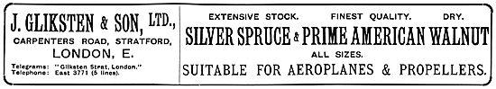 J.Gliksten & Son - Aroplane Wood Suppliers