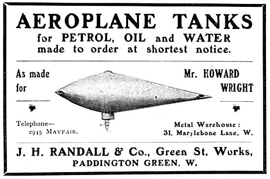 J H Randall & Co. Fuel & Oil Tanks