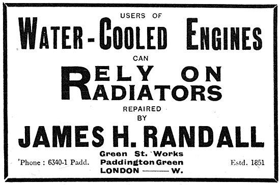 J H Randall & Co - Sheet Metal Work. Radiators & Fuel Tanks