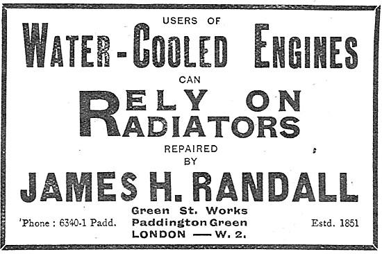 James Randall Aero Engine Radiators 1917