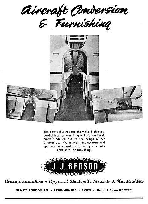 J.J.Benson Aircraft Interior Furnishing, Southend Airport