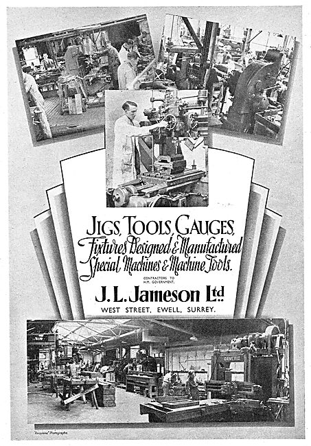J.L.Jameson. Ewell,Surrey. Jigs,Tools,Machine Tools & Gauges