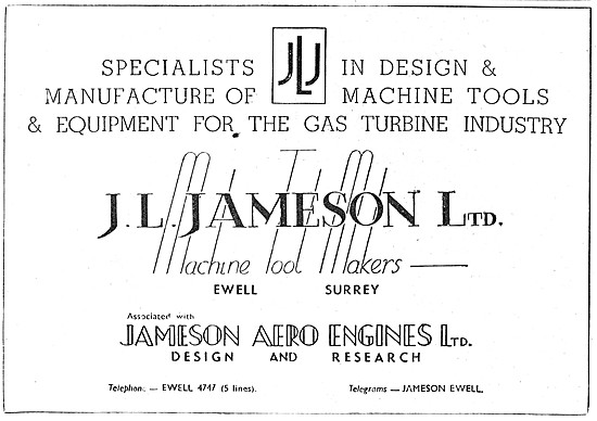 J.L.Jameson. Jigs,Tools,Machine Tools & Gauges
