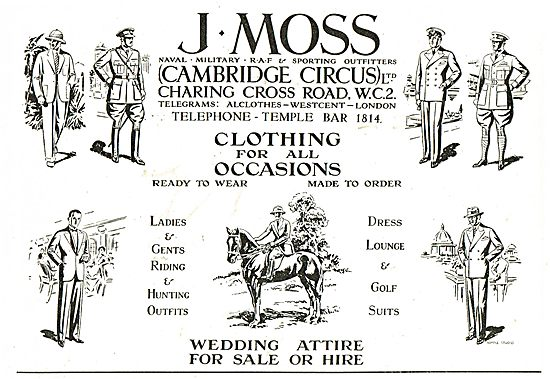 J.Moss - Naval, Military & RAF Outfitters. Gents Hunting Outfits