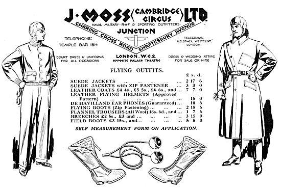 J.Moss Flying Kit & Military Tailors 1930
