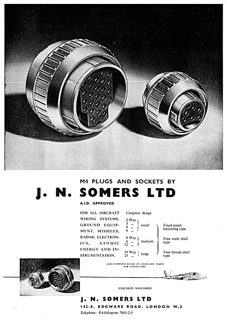 J.N.Somers Electrical Components - M4 Plugs & Sockets