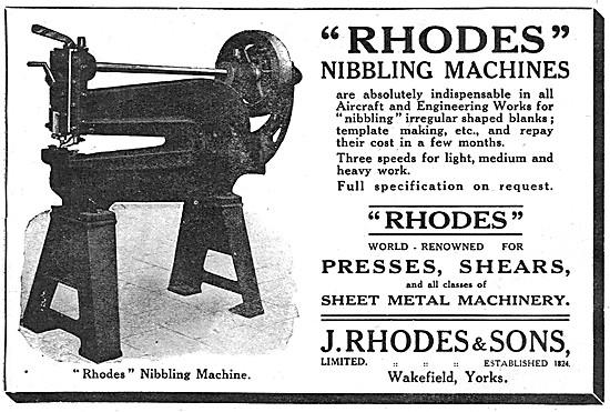 J.Rhodes Nibbling Machines, Presses & Shears